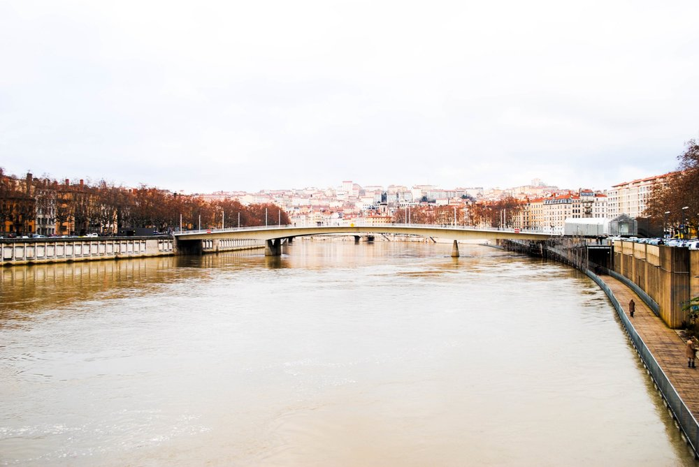 Along the Saône and Rhône in Lyon, France