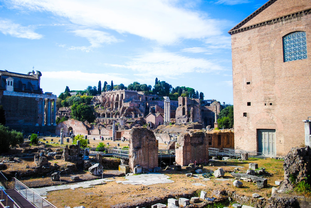 The Roman Ruins in Rome, Italy