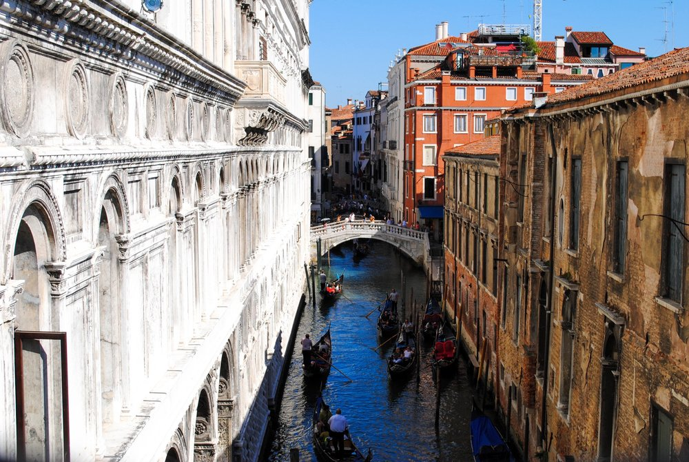 Bridge of Sighs in Venice, Italy