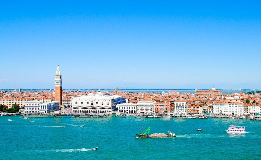 Bird's-eye View from San Giorgio Maggiore in Venice, Italy