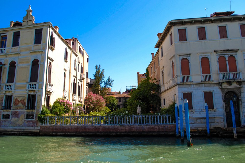 Along the Grand Canal in Venice, Italy