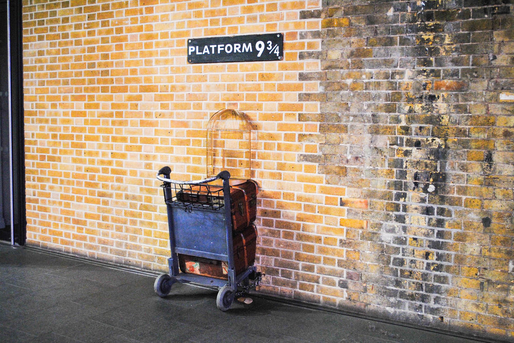 Platform 9 3/4 in London, UK