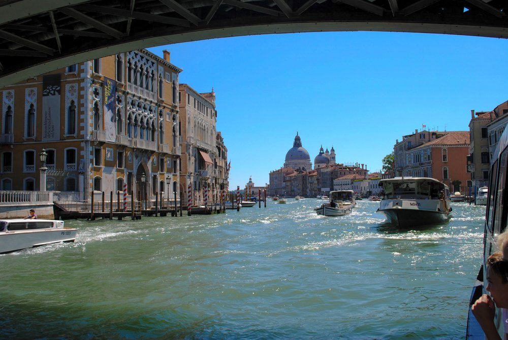 Accademia Bridge in Venice, Italy