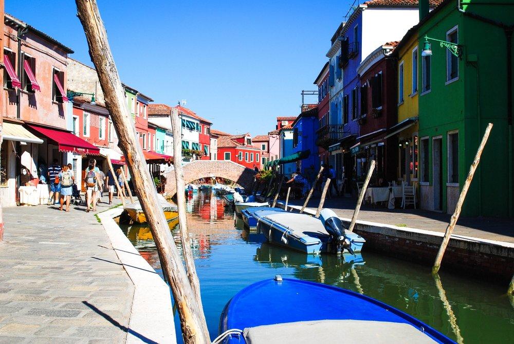 Burano in Venice, Italy