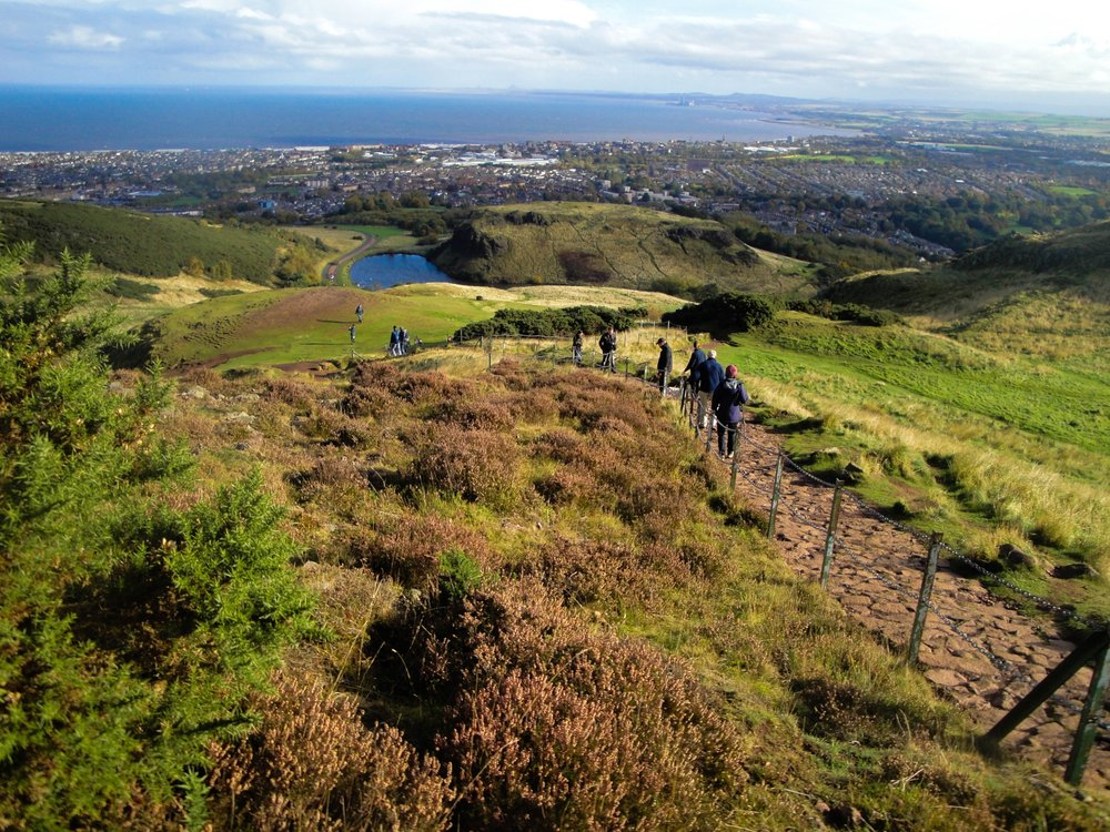 King Arthur's Seat in Edinburgh, Scotland