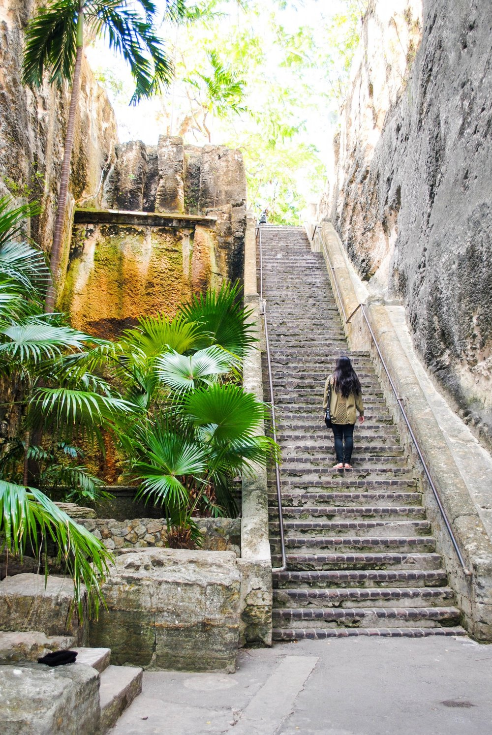 The Queen's Staircase in Nassau, Bahamas