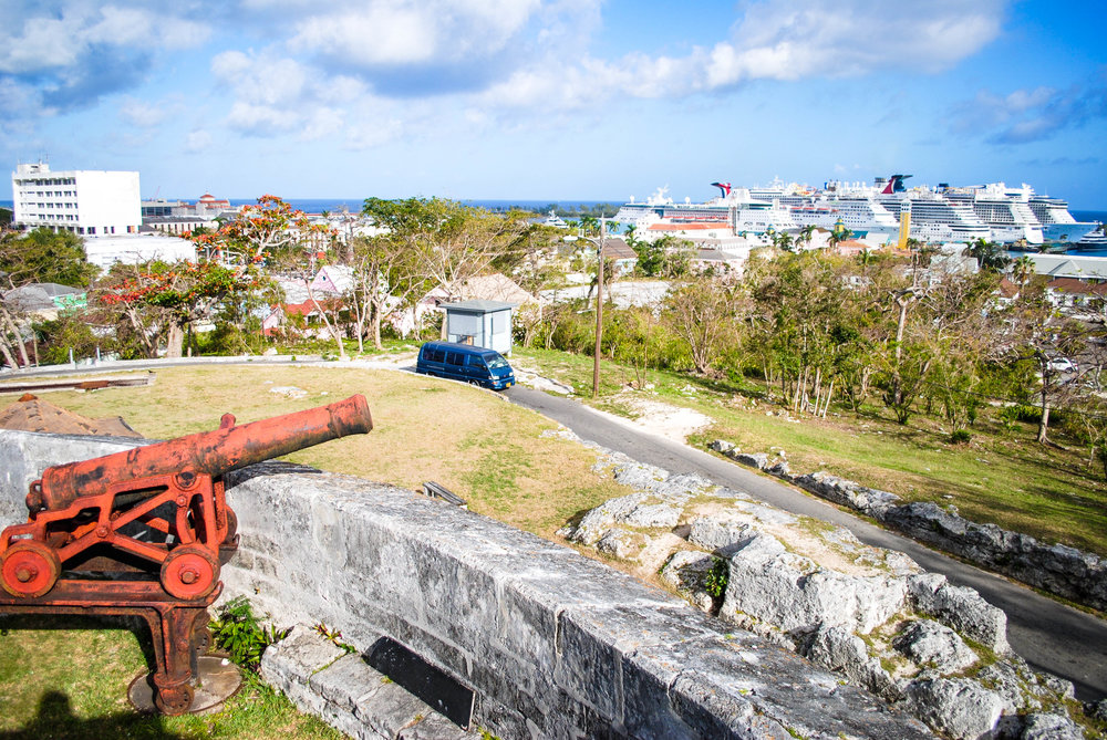 Fort Fincastle in Nassau, Bahamas