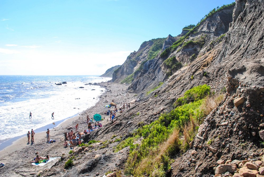 Mohegan Bluffs in Block Island