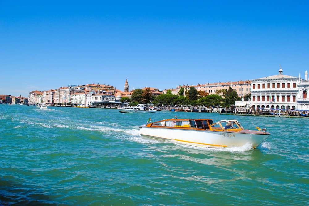 Taxi Boats - Taxis are small little private boats that are efficient and speedy. A trip can range from €40 to €120, depending on where you want to go. While they offer convenience and privacy, this is your priciest option.