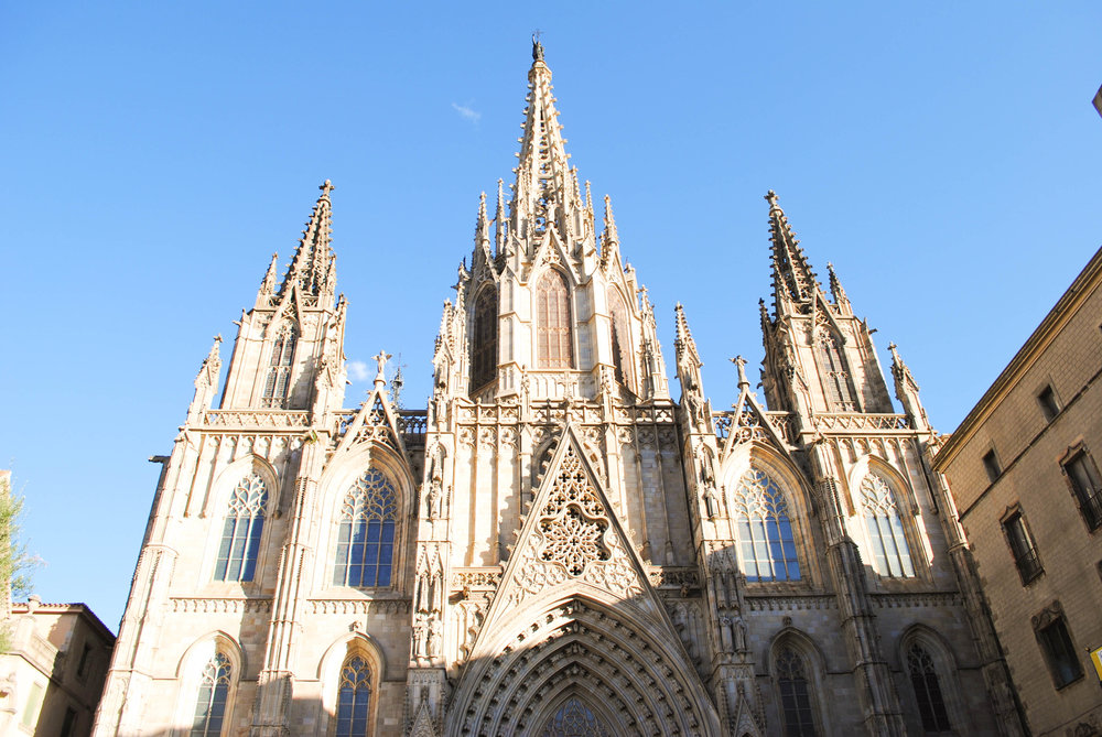 Gothic District in Barcelona, Spain