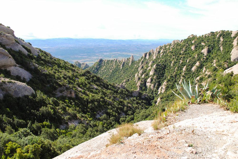 Hiking in Montserrat in Catalonia, Spain