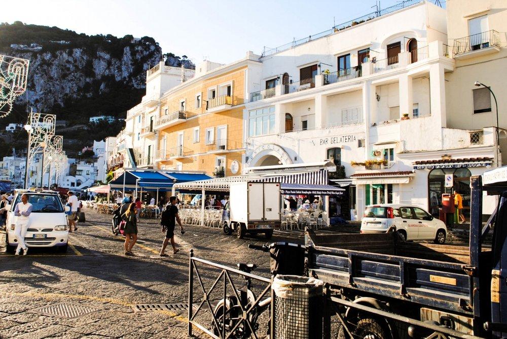 Funicular in Capri, Italy
