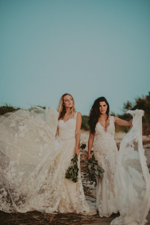 California beach boho bridal shoot