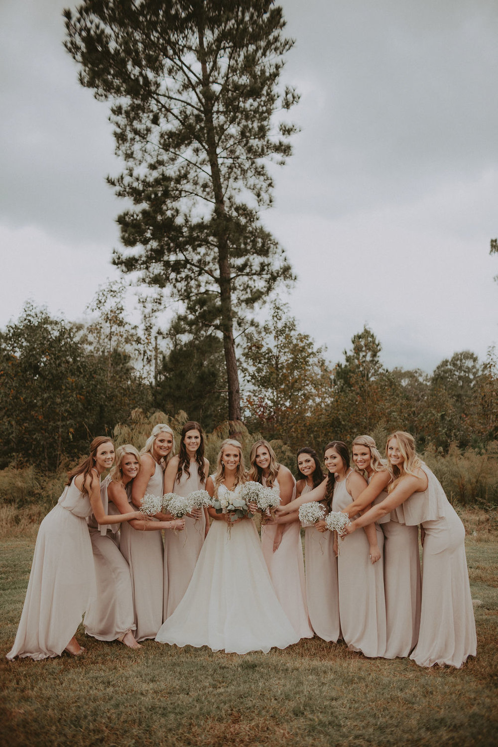 Wedding party neutral colors