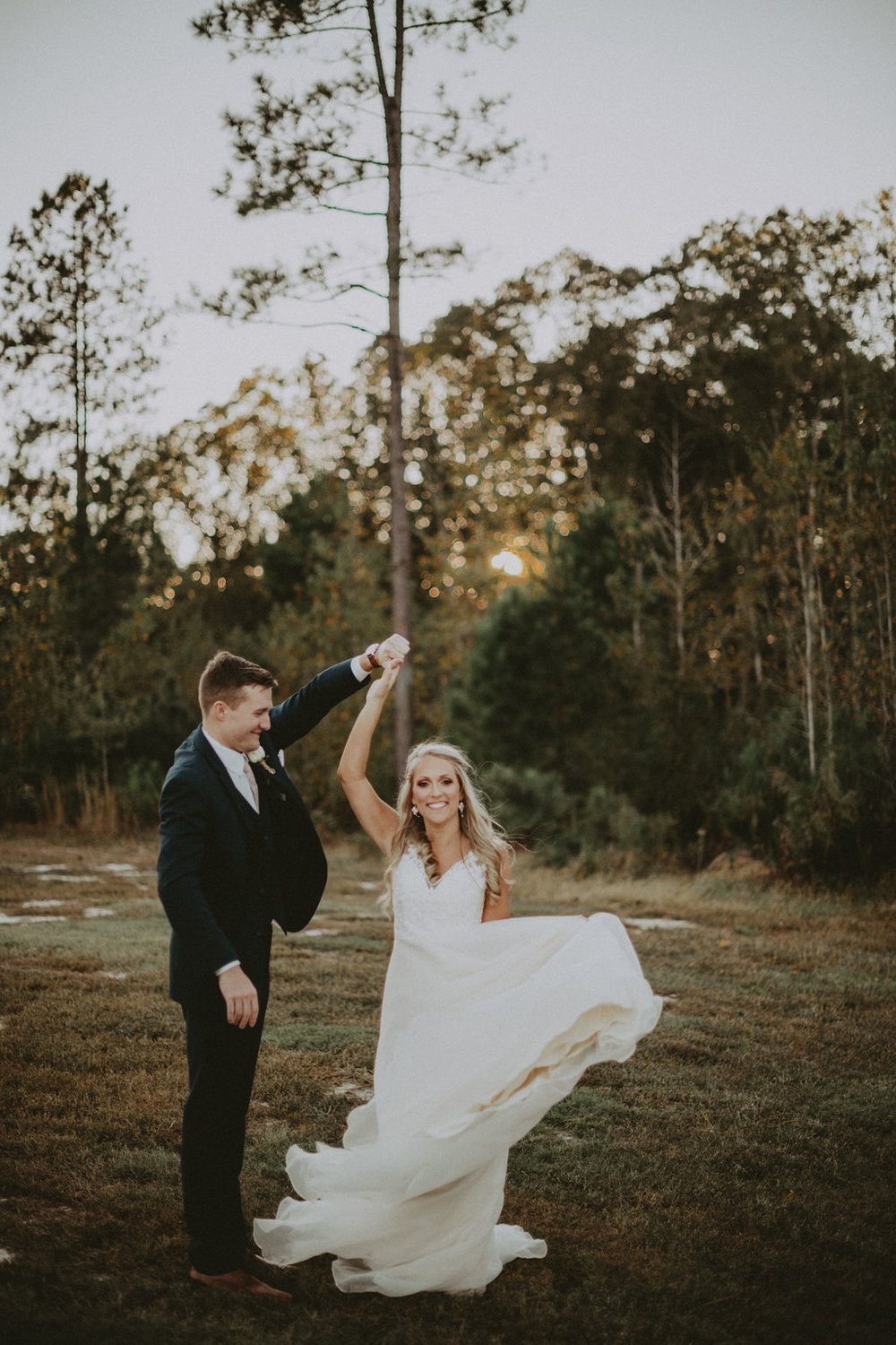 Southern wedding- bride and groom