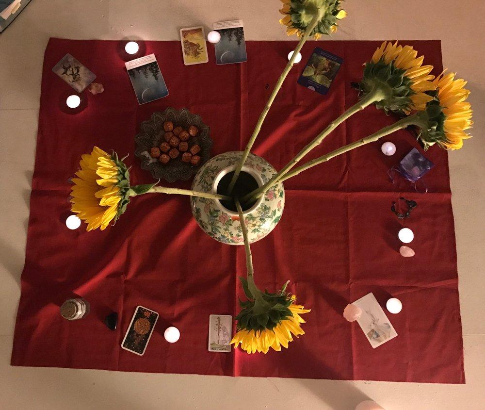 '17 March Aries New Moon Circle Tarot