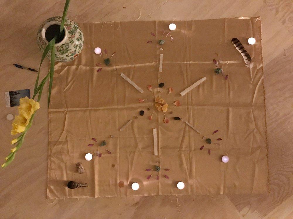 '17 August Leo New Moon Circle Crystal Grid