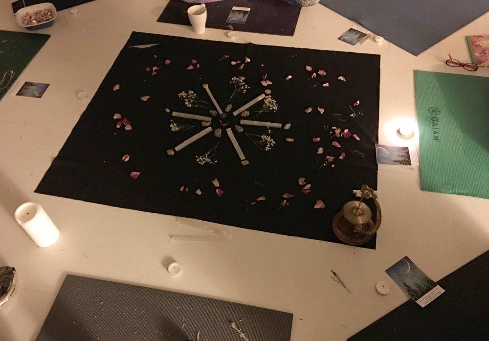 '16 December Capricorn New Moon Circle Crystal Grid