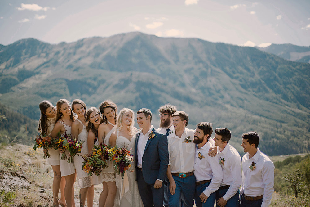 adventurous wedding party, marble colorado wedding, marble lodge wedding, marble colorado wedding photographer, adventurous wedding photographer, colorado wedding photographer