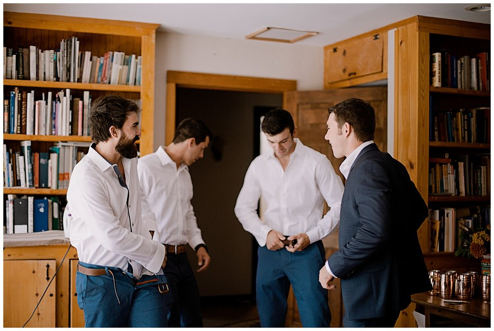 Groomsmen getting ready, intimate colorado wedding photographer, adventurous colorado wedding photographer, marble lodge wedding, marble colorado wedding