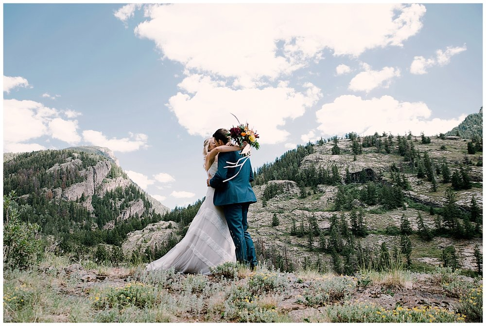 bride and groom first look, adventurous first look, marble colorado wedding, maroon bells wilderness wedding, adventurous colorado wedding photographer, marble lodge wedding