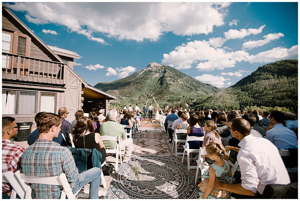 wedding ceremony, outdoor colorado wedding ceremony, adventurous colorado wedding photographer, marble colorado wedding, marble lodge wedding, adventure wedding