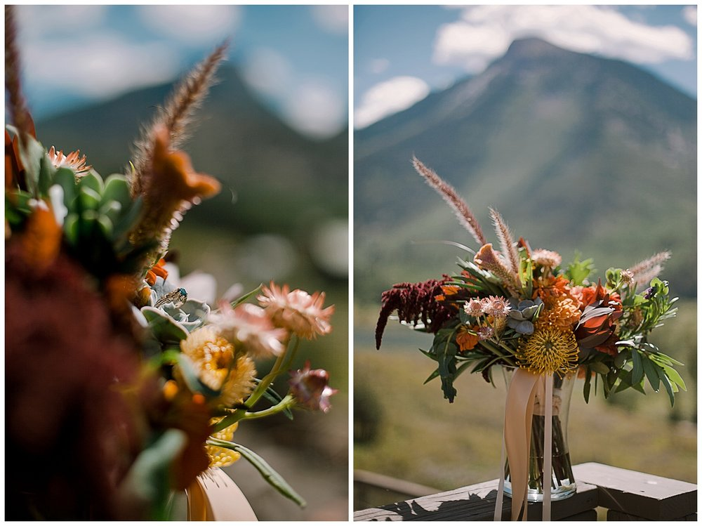 wedding florals, outdoor colorado wedding, marble colorado wedding, marble lodge wedding, adventurous colorado wedding photographer