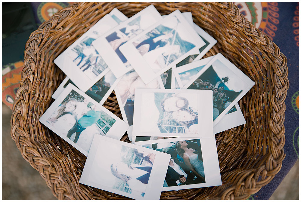 wedding polaroids, wedding details, adventurous colorado wedding photographer, marble colorado wedding, marble lodge wedding