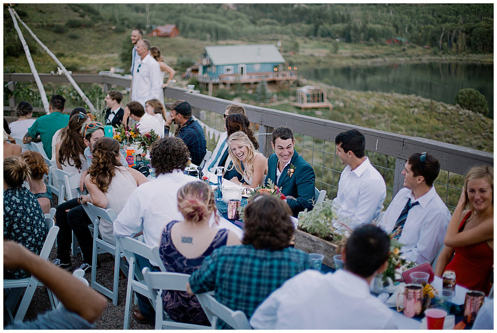 wedding speeches, outdoor colorado ceremony, marble colorado wedding, marble lodge wedding, adventurous colorado wedding photographer