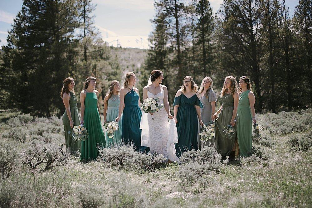 bridal party, breckenridge colorado wedding, breckenridge colorado wedding photographer, the church at agape outpost wedding, agape outpost wedding photographer