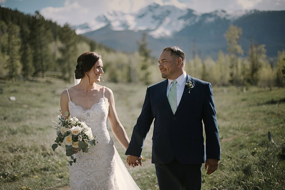 bride and groom at agape outpost, the church at agape outpost wedding, breckenridge colorado wedding photographer, breckenridge colorado wedding, agape outpost wedding photographer