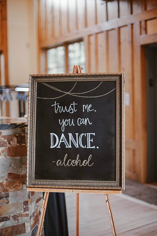 wedding reception sign, wedding bar sign, silverthorne colorado wedding photographer, silverthorne pavillion wedding, silverthorne pavillion wedding photographer
