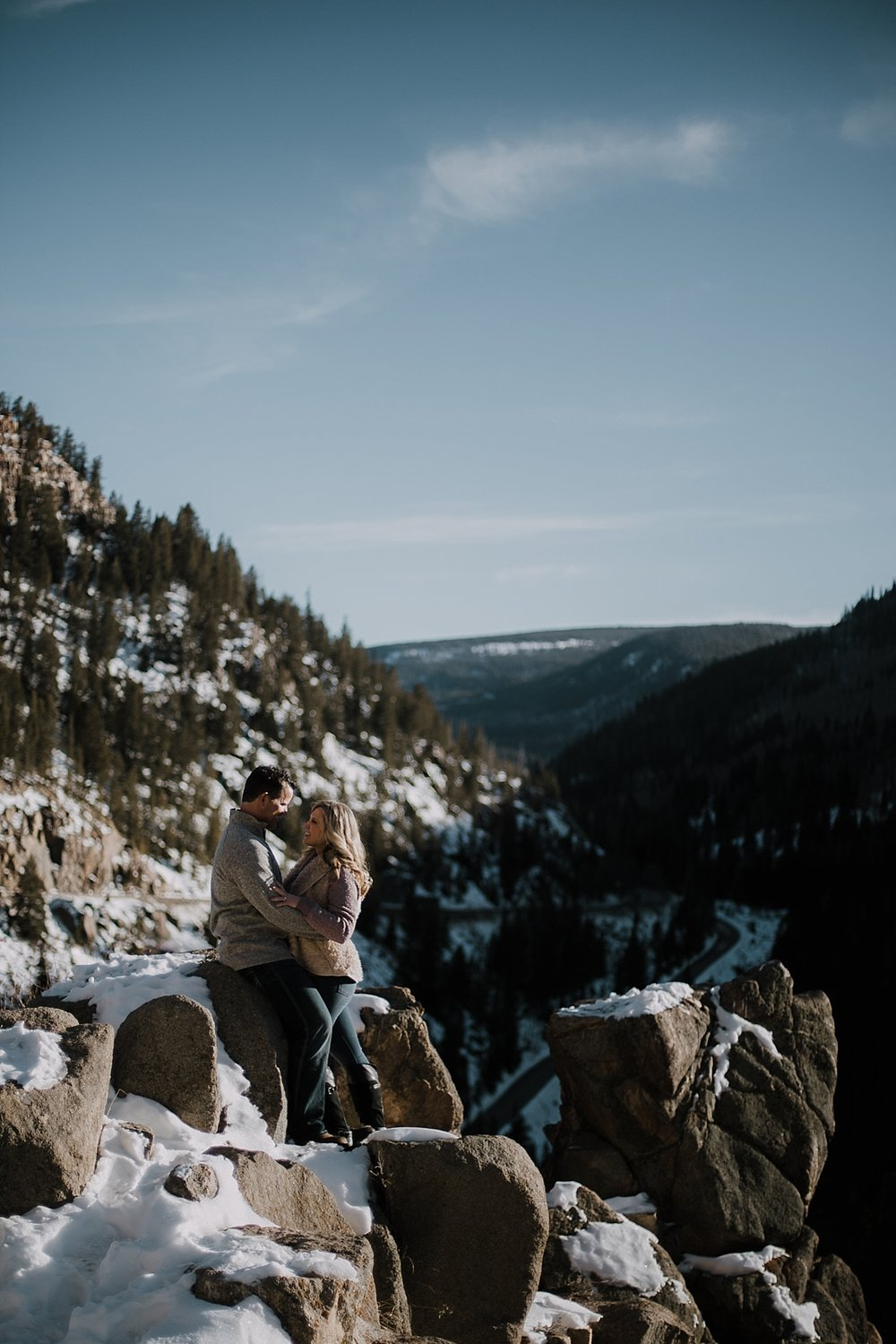 couple posing, colorado adventure session, colorado engagement session, adventurous colorado wedding photographer, red cliff wedding photographer, leadville wedding photographer