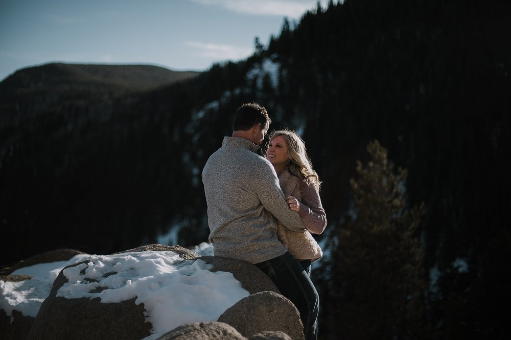 couple posing, colorado adventure session, adventurous colorado wedding photographer, adventurous colorado engagement session, red cliff wedding photographer, leadville wedding photographer