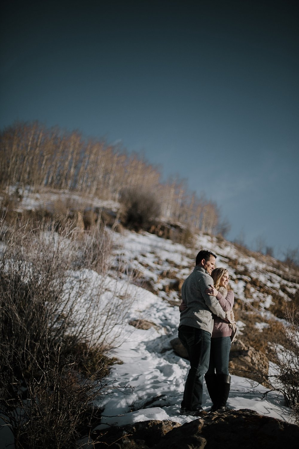 couple hiking, hiking engagements, adventurous colorado engagements, adventurous colorado wedding photographer, red cliff wedding photographer, leadville wedding photographer