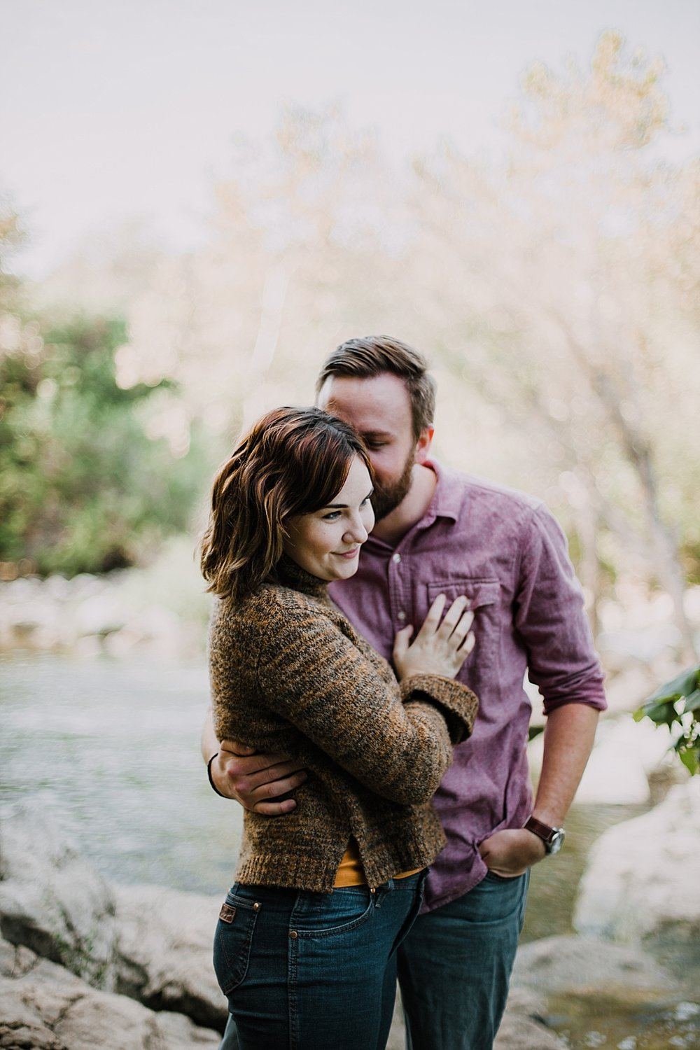 couple hiking the green belt, austin texas wedding photographer, green belt engagements, austin texas engagements, green belt wedding photographer