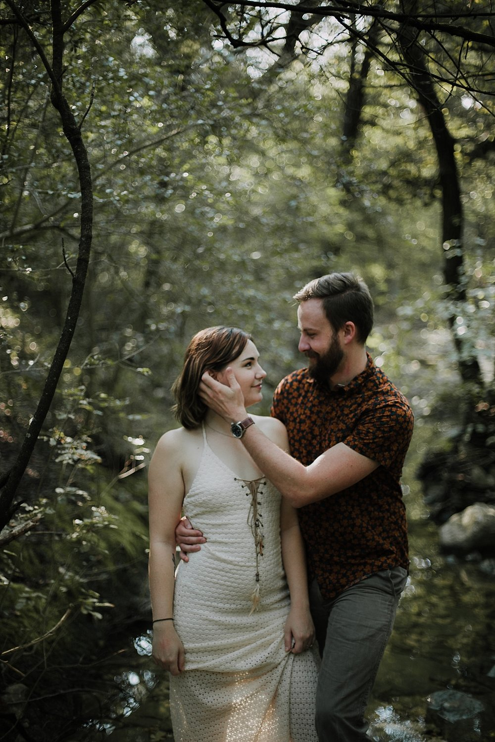 couple hiking in the woods, austin texas wedding photographer, dripping springs texas wedding photographer, paris france wedding photographer, los angeles wedding photographer