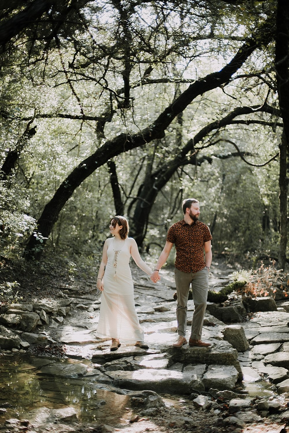 couple hiking in the woods, austin texas wedding photographer, paris france wedding photographer, south africa wedding photographer, dripping springs texas wedding photographer