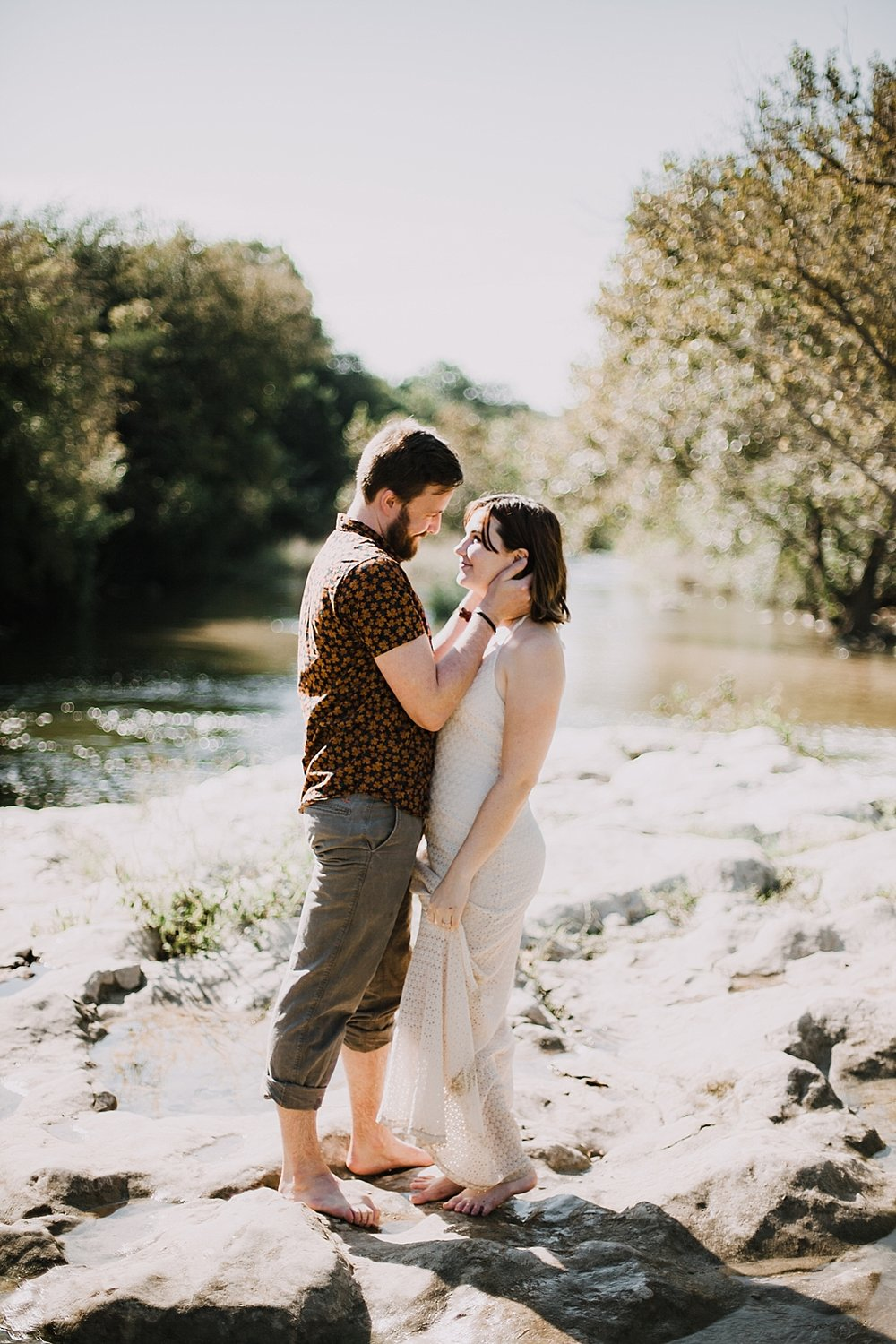 couple hiking in the green belt, austin texas wedding photographer, alexander at creek road wedding photographer, paris france wedding photographer