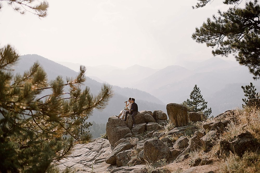 elopement view, boulder colorado elopement, boulder colorado self solemnizing elopement, self solemnizing elopement, colorado self solemnization, boulder colorado elopement photographer