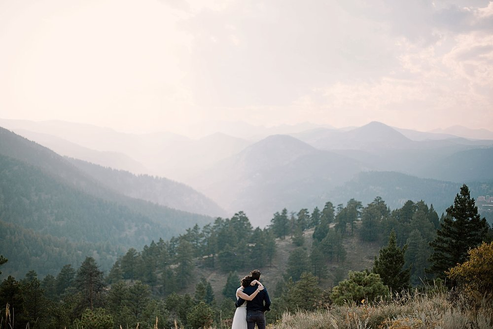 epic elopement view, boulder colorado elopement photographer, boulder colorado self solemnizing elopement, self solemnizing elopement, realization point elopement, boulder colorado elopement