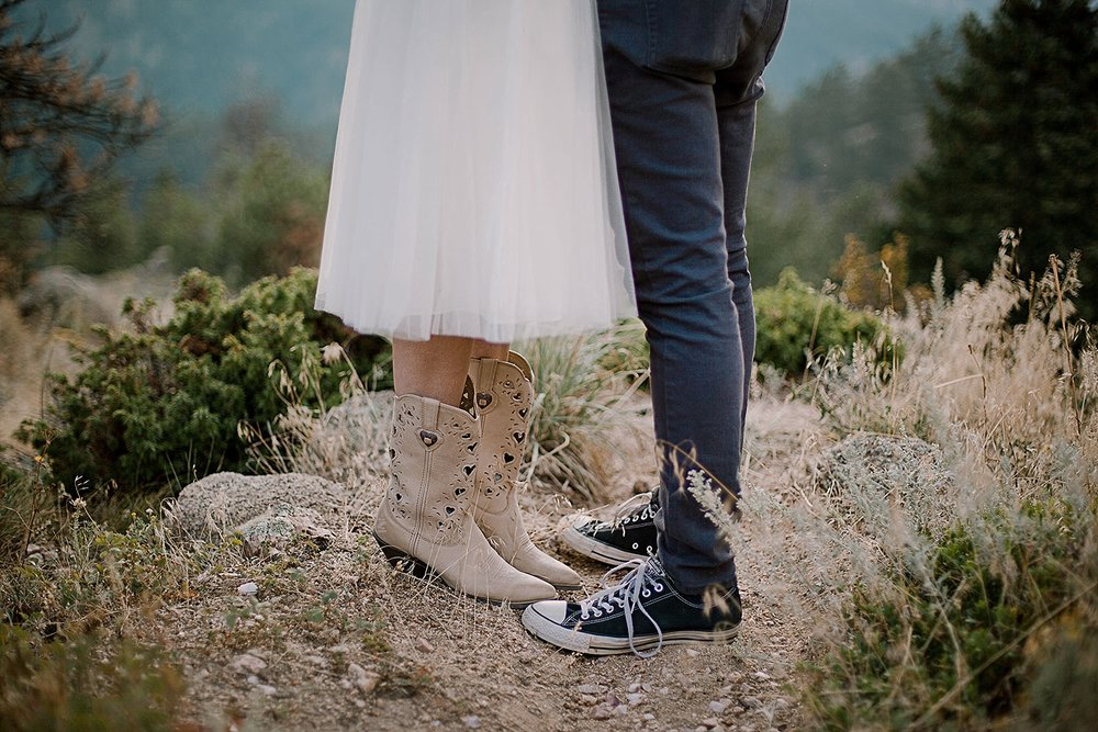 elopement shoes, boulder colorado elopement, boulder colorado self solemnizing elopement, colorado self solemnization, boulder colorado elopement photographer, realization point elopement