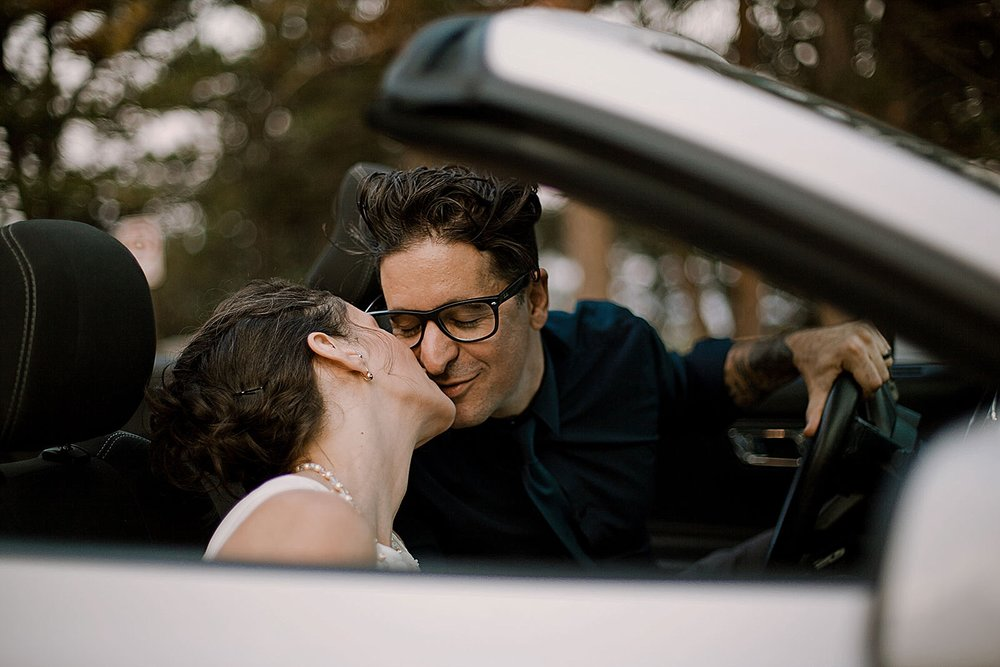 wedding get away car, self solemnizing elopement, boulder colorado elopement, boulder colorado self solemnizing elopement, realization point elopement, boulder colorado elopement photographer