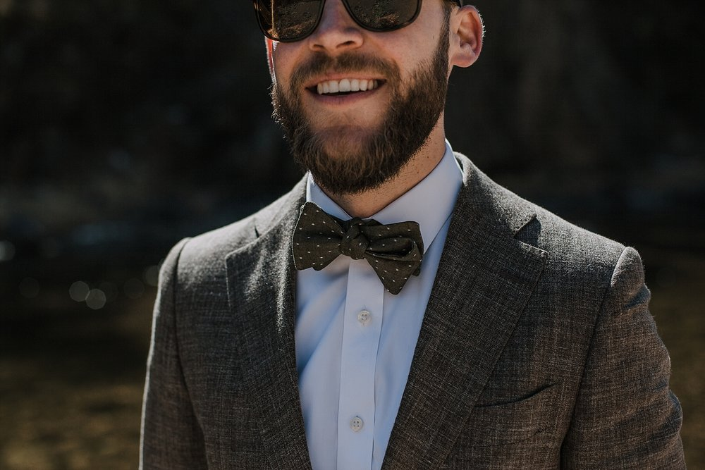 groom in bowtie, groom details, gateway natural area elopement, seaman reservoir elopement, fort collins colorado elopement, colorado elopement, fort collins wedding photographer, colorado groom