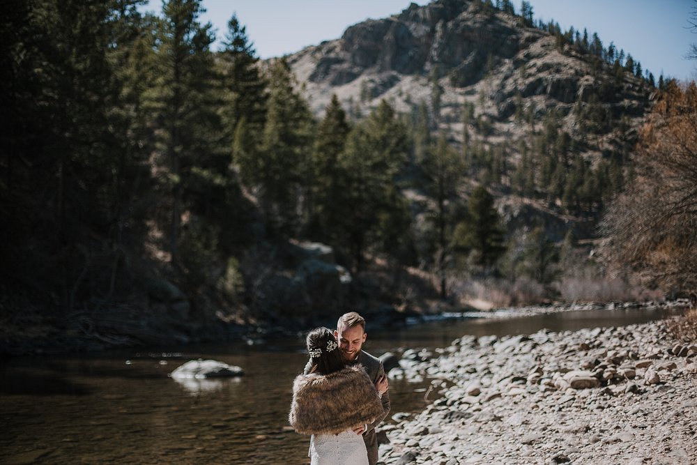 elopement first look, daughters of simone, gateway natural area elopement, seaman reservoir elopement, fort collins colorado elopement, colorado elopement, fort collins wedding photographer