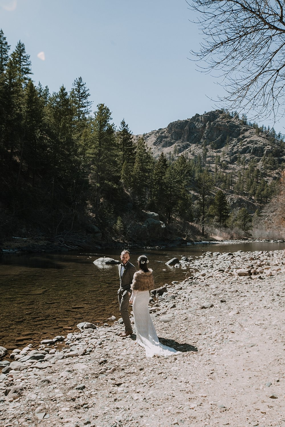 elopement first look, gateway natural area elopement, seaman reservoir elopement, fort collins colorado elopement, colorado elopement, fort collins wedding photographer, grooms reaction