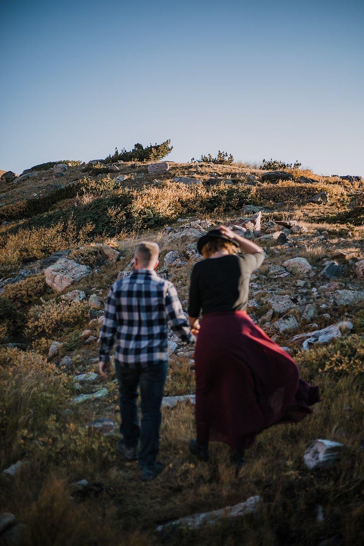 sunrise at james peak, colorado 13er, hike little echo lake, backpacking james peak wilderness, hike james peak lake, james peak elopement, winter park sunrise elopement, st marys glacier elopement