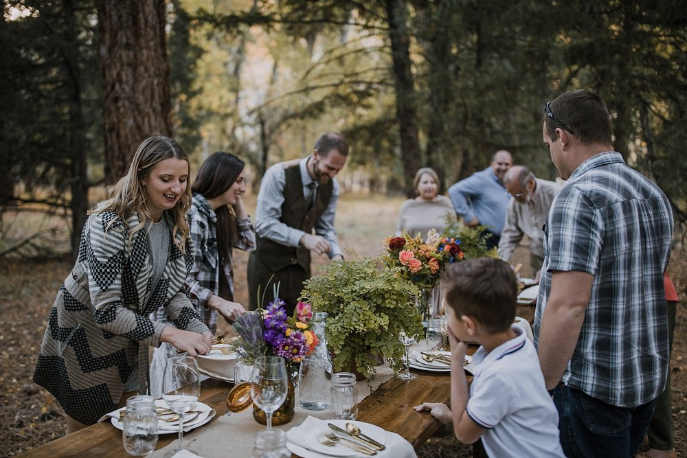 elopement dinner, picnic elopement, norway elopement, post elopement celebration, wedding in the woods, buena vista elopement, buena vista wedding, nathrop colorado wedding, elope with your dog