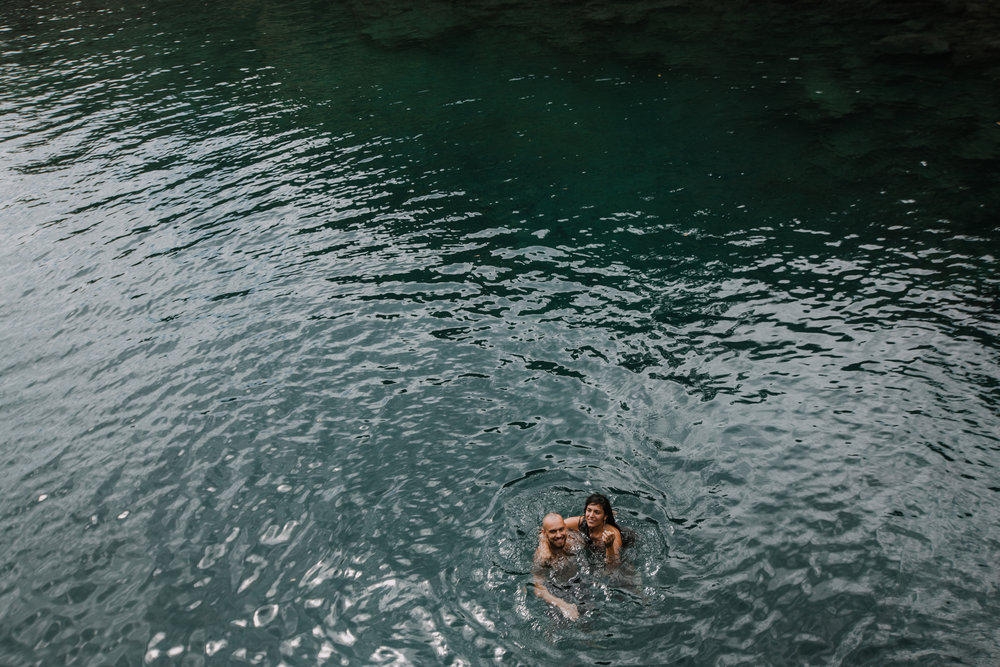 couple swimming, seven sacred pools at ohe'o, island hiking, road to hana, hawaii wedding photographer, hawaii elopement photographer, maui wedding, maui engagements, maui elopement