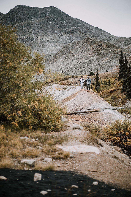 colorado mountain mining ruins, hike mayflower gulch, mayflower gulch proposal, mayflower gulch elopement, mayflower gulch wedding, mayflower gulch engagments, leadville elopement, leadville wedding
